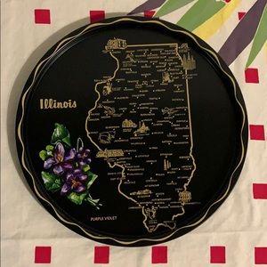 Vintage Illinois Metal Tray